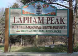 Lapham Peak Park Sign
