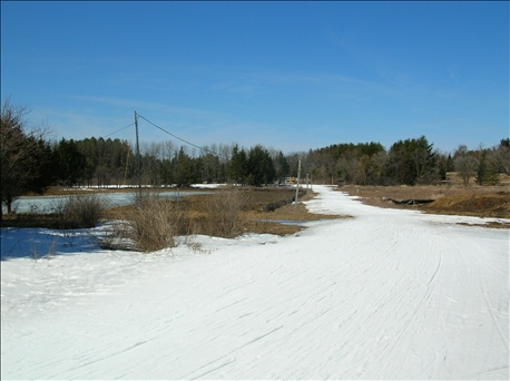 The snowmaking loop at Lapham